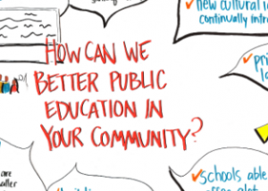 Improving Public Education through Community Engagement Graphic Recording Clarity Ink